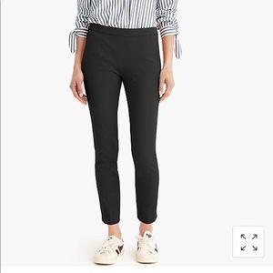 Martie slim crop pant bi-stretch cotton side zip